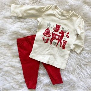 Glitter 2 piece Christmas outfit set